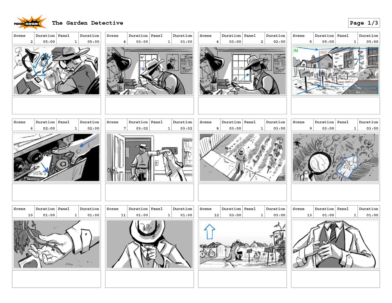 garden detective storyboards
