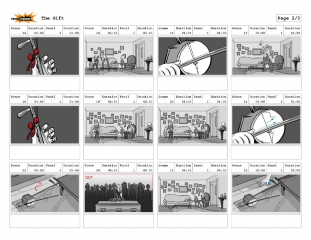 The Gift Storyboards